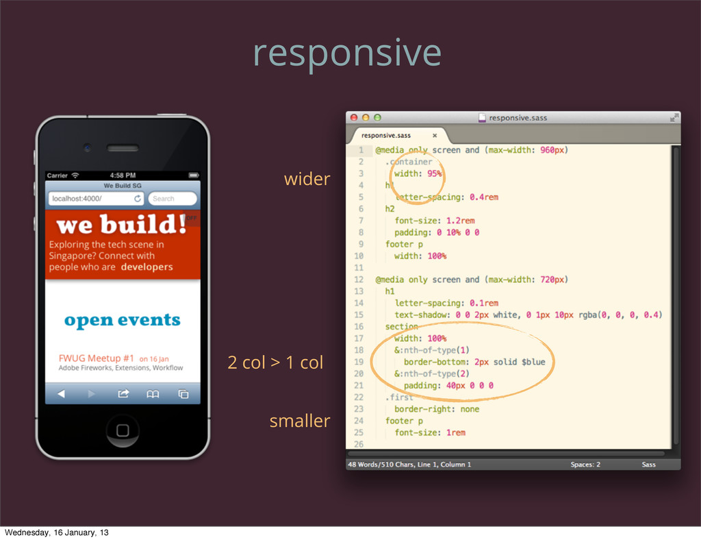 responsive 2 col > 1 col wider smaller Wednesda...