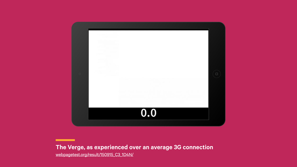 r The Verge, as experienced over an average 3G ...