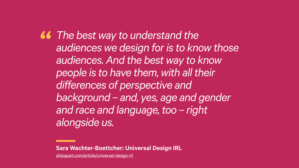 r The best way to understand the audiences we d...
