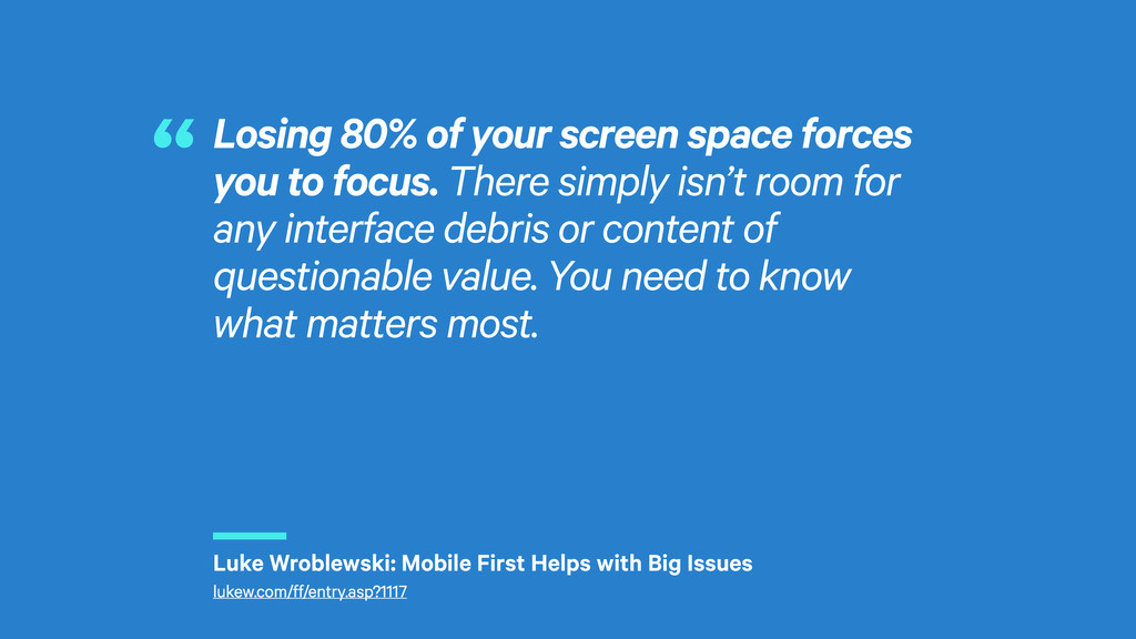 r Losing 80% of your screen space forces you to...