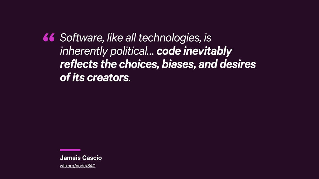 r Software, like all technologies, is inherentl...