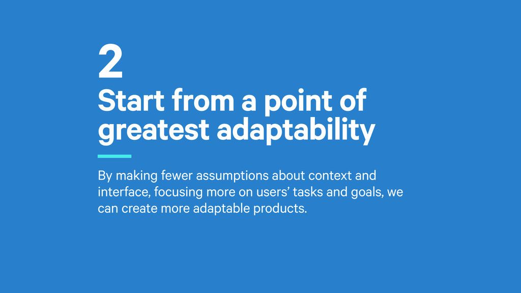 Start from a point of greatest adaptability r B...