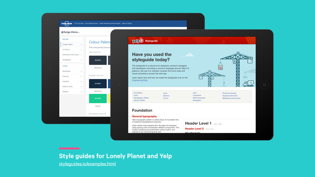 r Style guides for Lonely Planet and Yelp style...