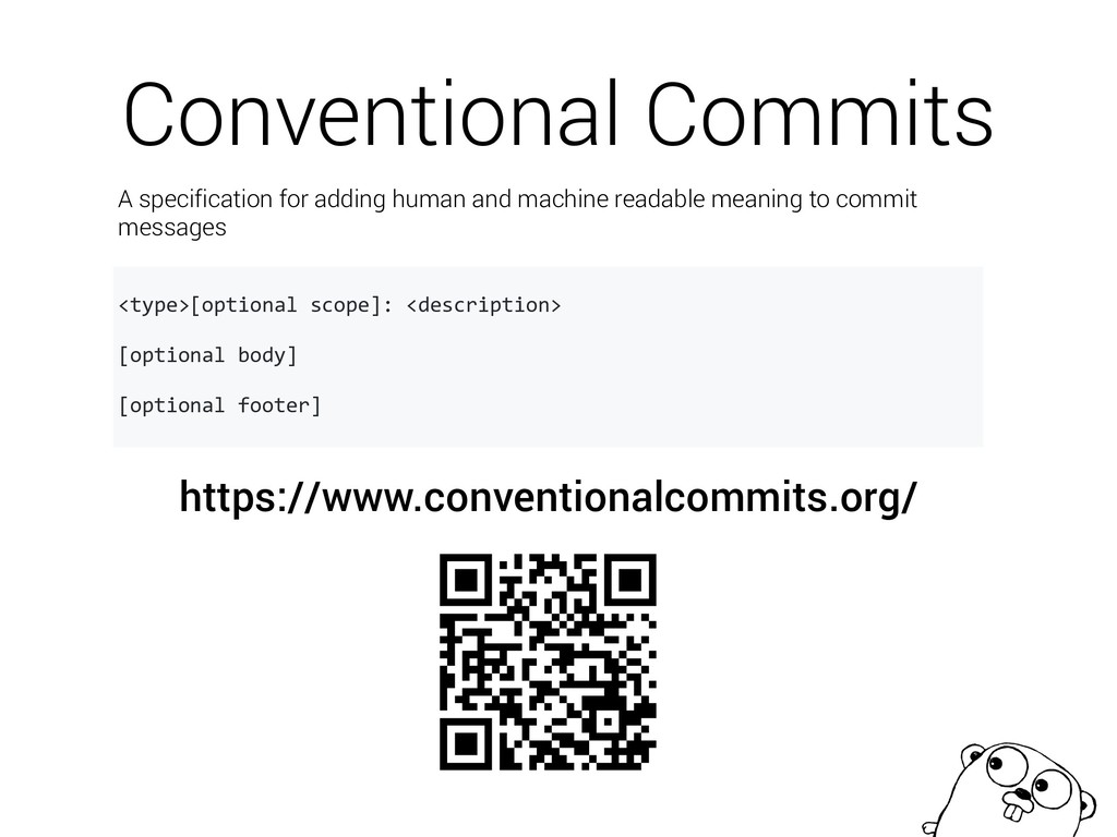 Conventional Commits https://www.conventionalco...