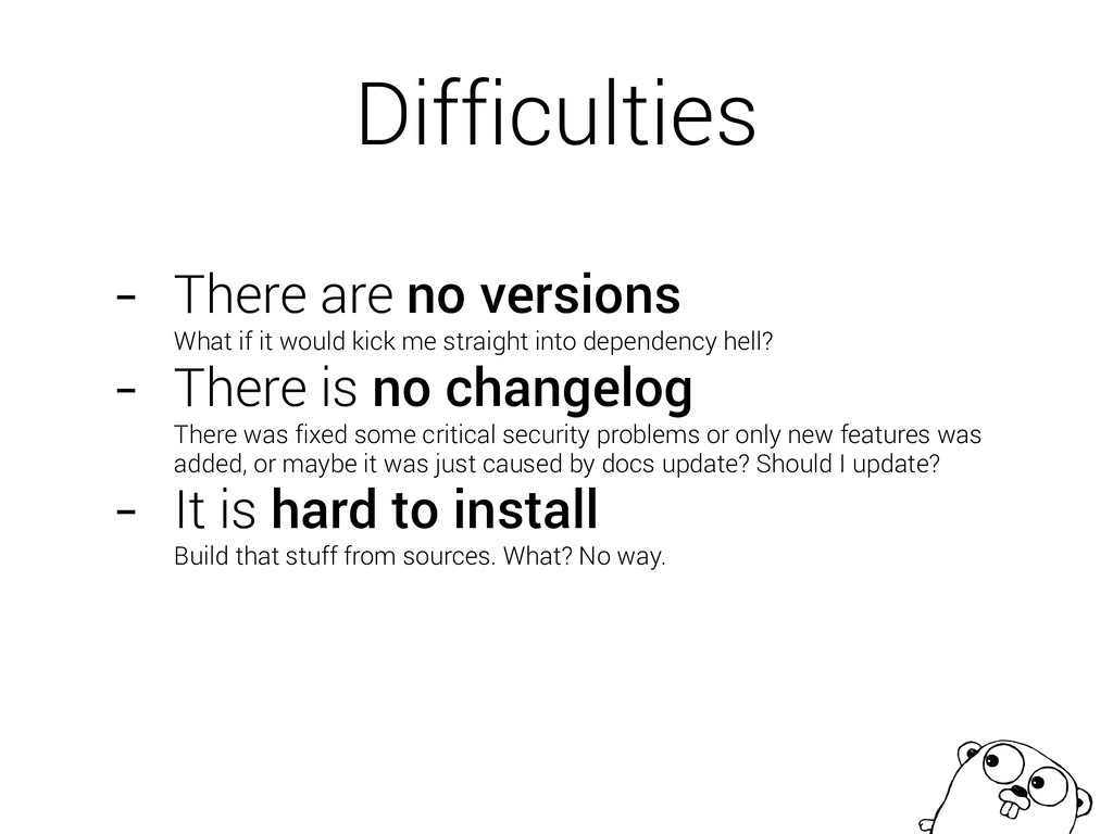 Difficulties - There are no versions What if i...