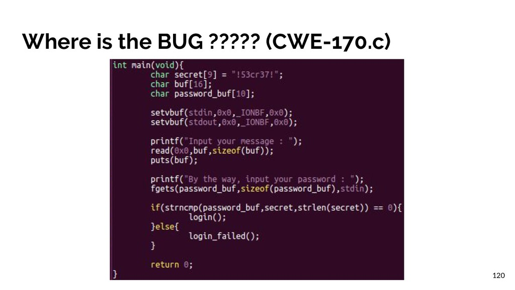 Where is the BUG ????? (CWE-170.c) 120