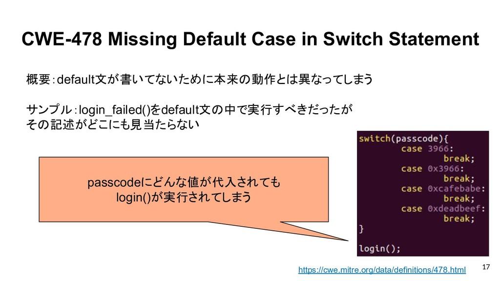 CWE-478 Missing Default Case in Switch Statemen...