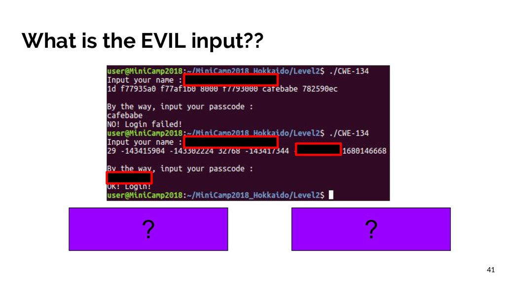 What is the EVIL input?? ? ? 41