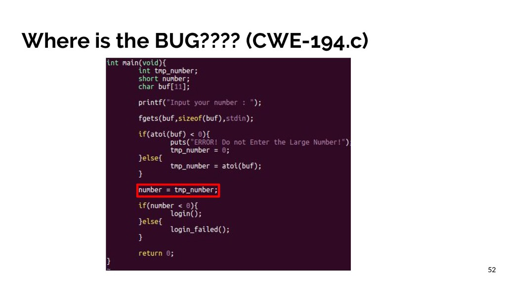 Where is the BUG???? (CWE-194.c) 52