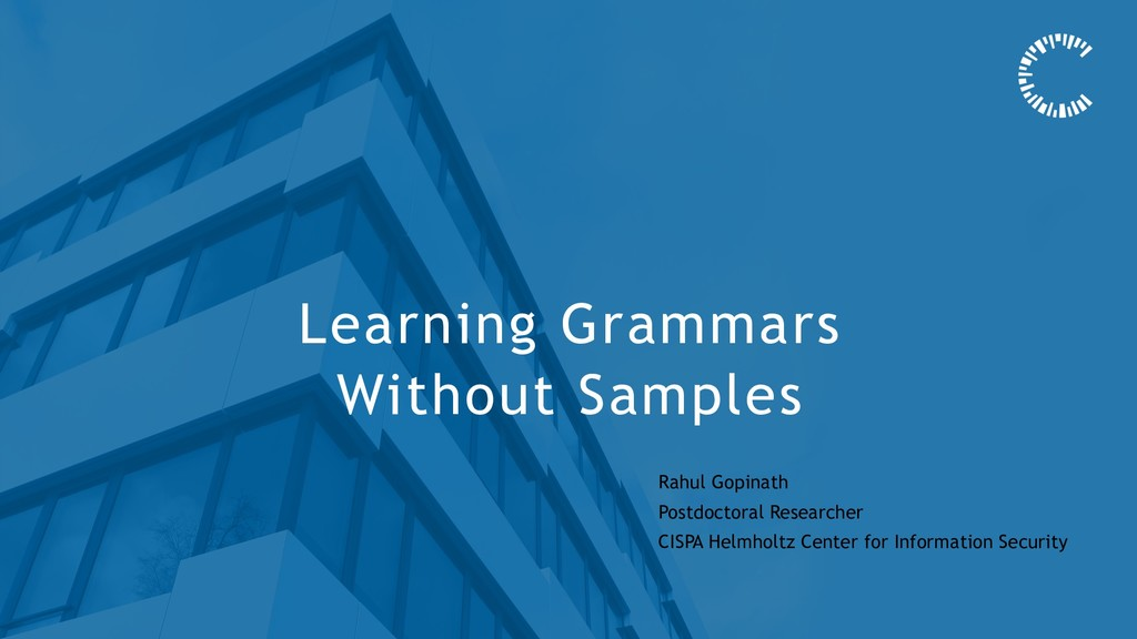 Learning Grammars Without Samples Rahul Gopinat...