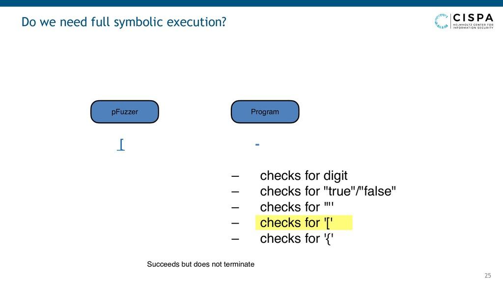Do we need full symbolic execution? 25 [ - – ch...