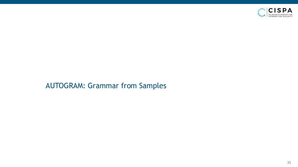 AUTOGRAM: Grammar from Samples 35