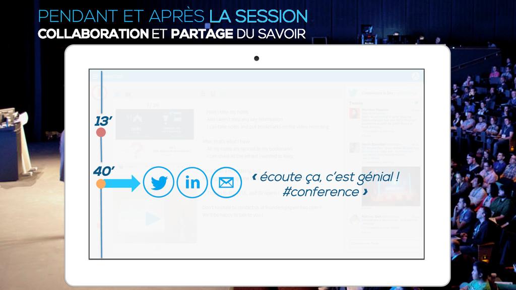 PENDANT ET APRÈS LA SESSION COLLABORATION ET PA...