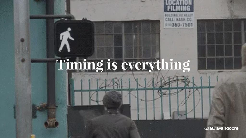 @lauravandoore Timing is everything