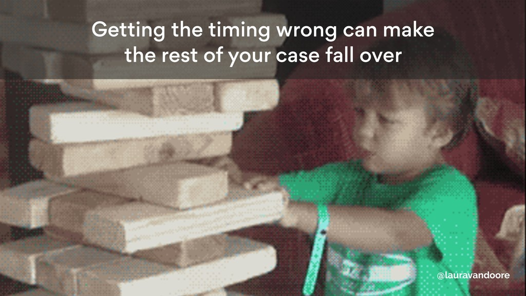 Getting the timing wrong can make the rest of y...