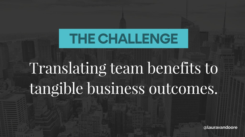 Translating team benefits to tangible business ...