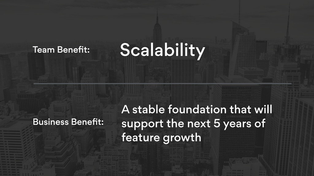 A stable foundation that will support the next ...