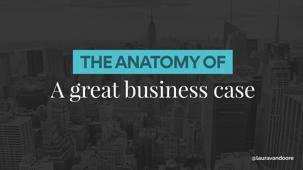 A great business case @lauravandoore THE ANATOM...
