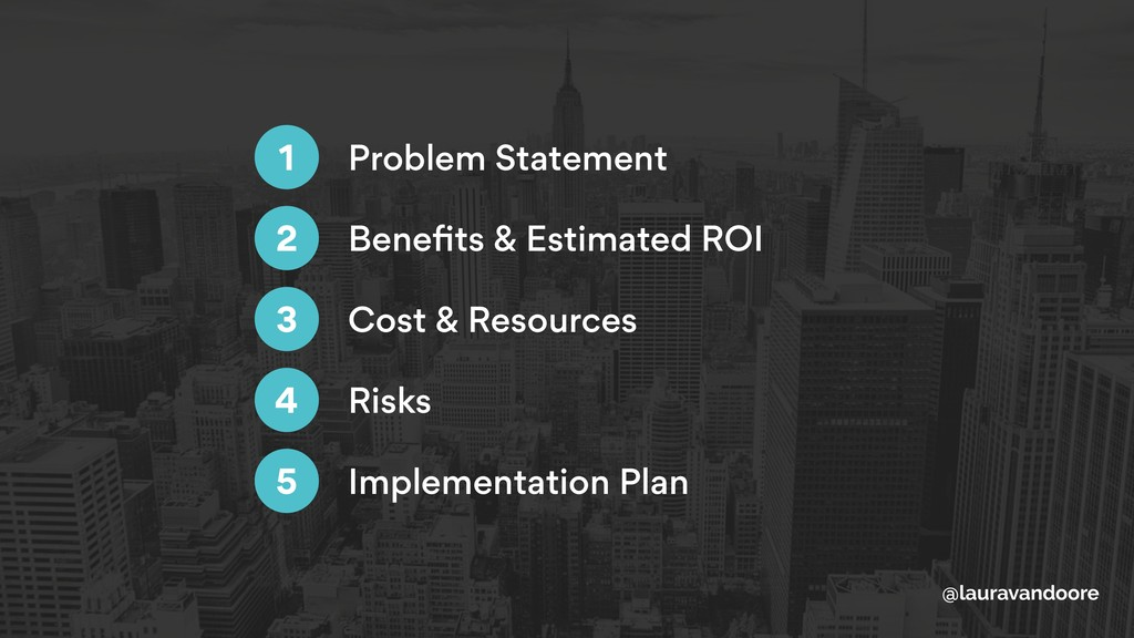@lauravandoore Problem Statement 1 Benefits & Es...