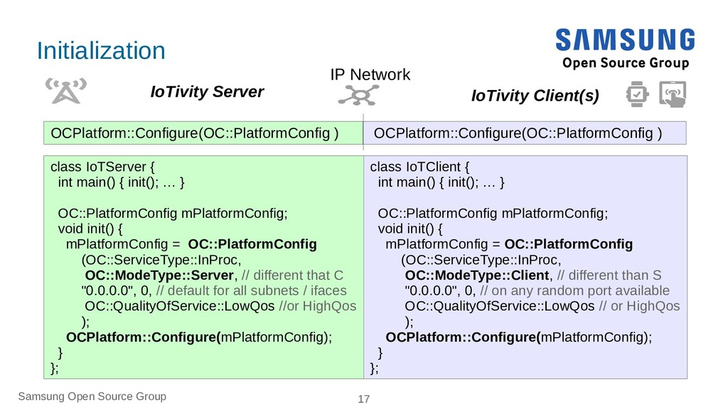 Samsung Open Source Group 17 Initialization OCP...