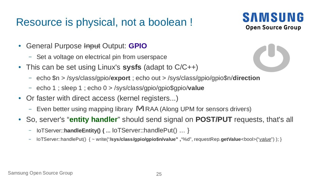 Samsung Open Source Group 25 Resource is physic...