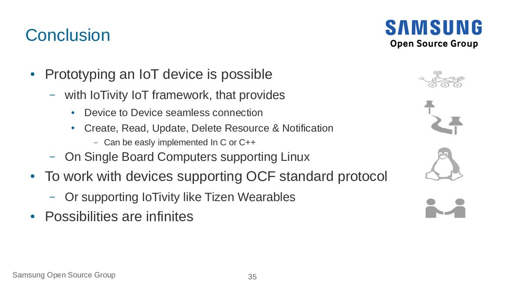 Samsung Open Source Group 35 Conclusion ● Proto...