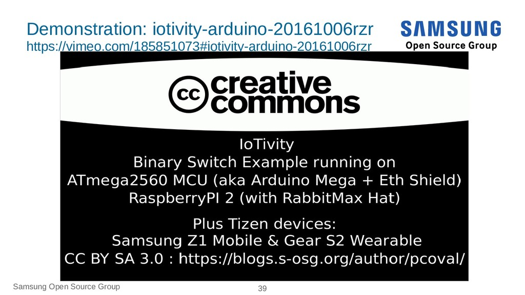 Samsung Open Source Group 39 Demonstration: iot...