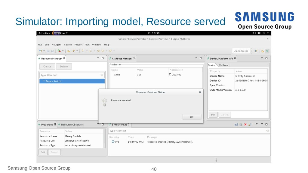 Samsung Open Source Group 40 Simulator: Importi...