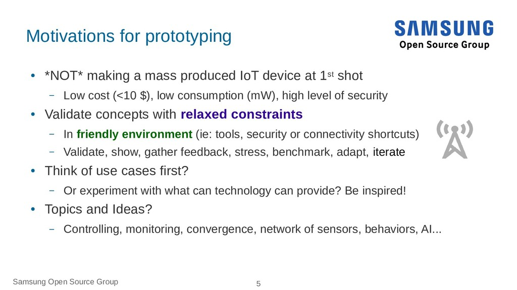 Samsung Open Source Group 5 Motivations for pro...