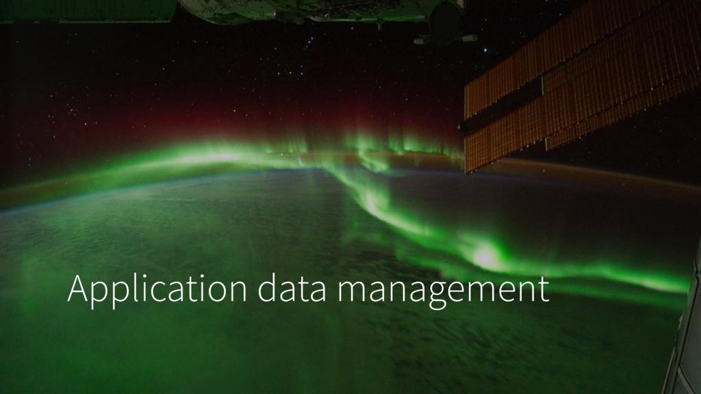 Application data management