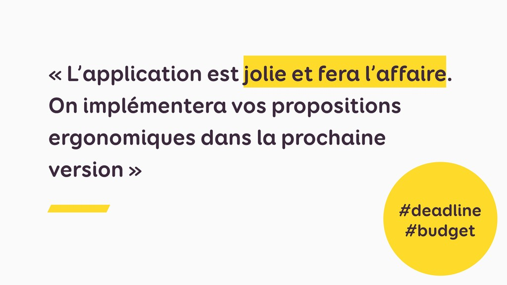 « L'application est jolie et fera l'affaire. On...