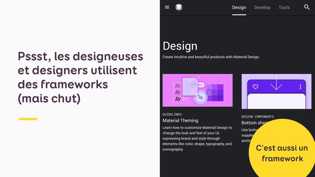 Pssst, les designeuses et designers utilisent d...