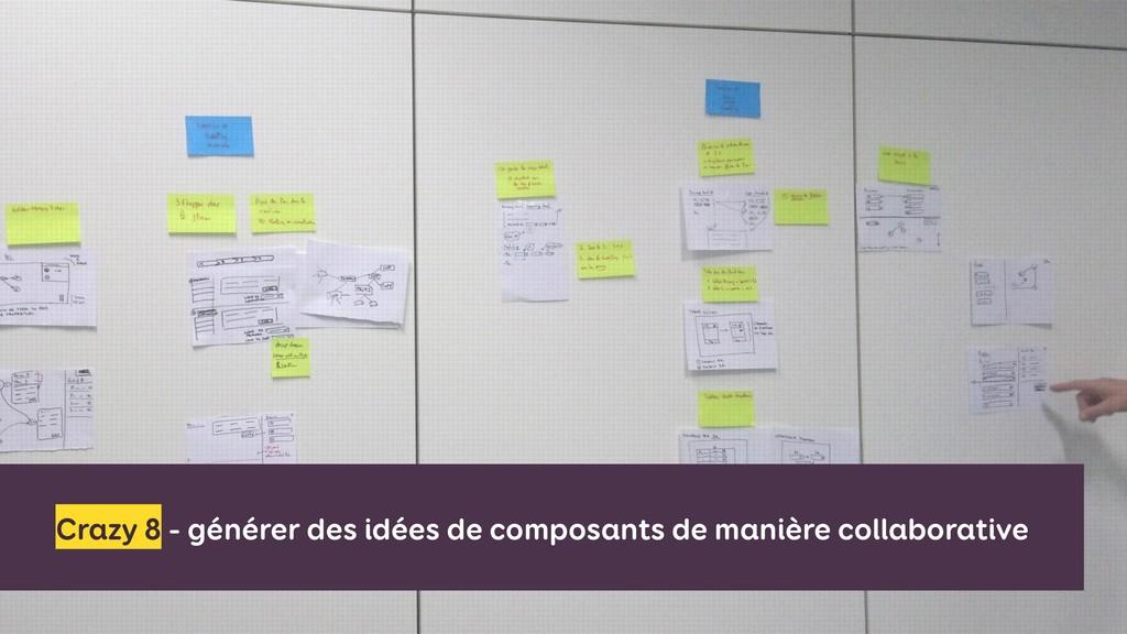 Crazy 8 - générer des idées de composants de ma...
