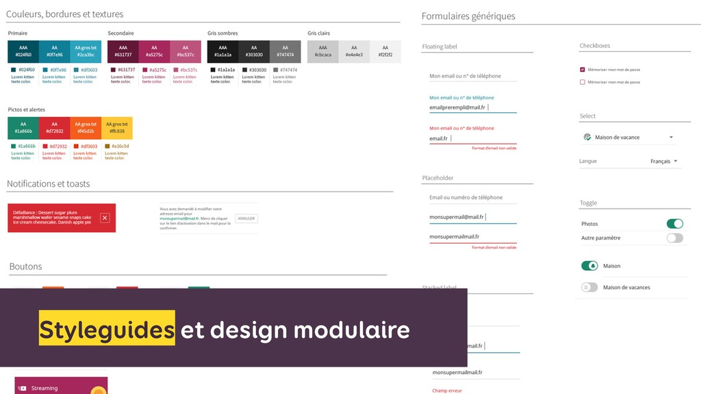 Styleguides et design modulaire