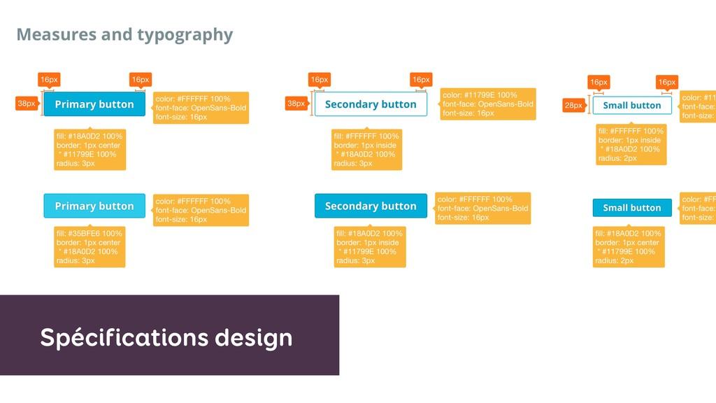Spécifications design
