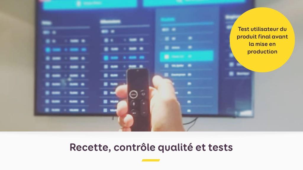 Recette, contrôle qualité et tests Test utilisa...