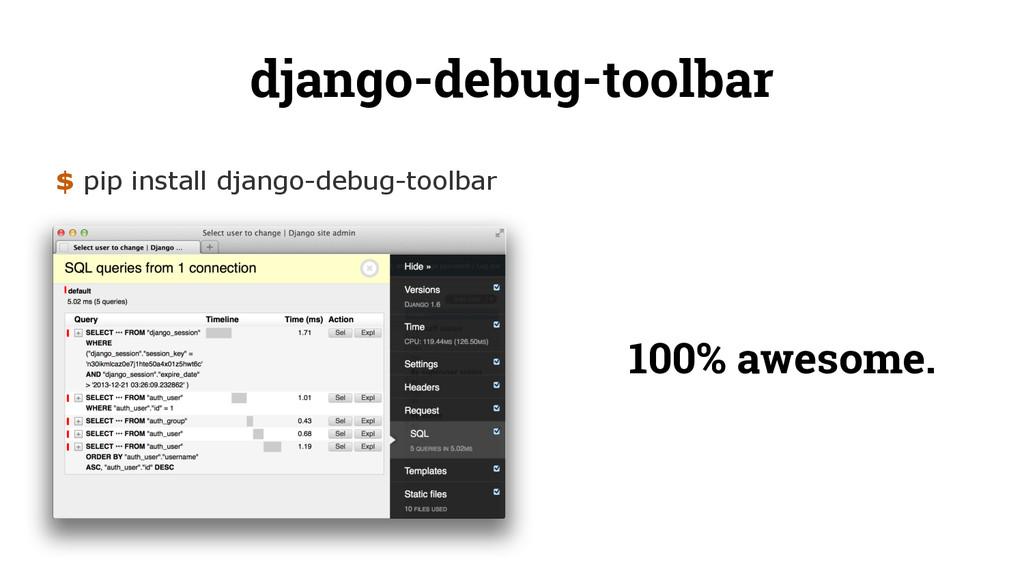 django-debug-toolbar $ pip install django-debug...