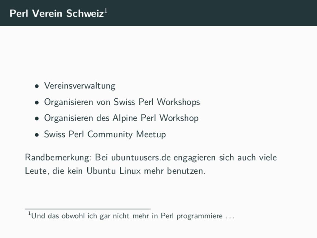 Perl Verein Schweiz1 • Vereinsverwaltung • Orga...