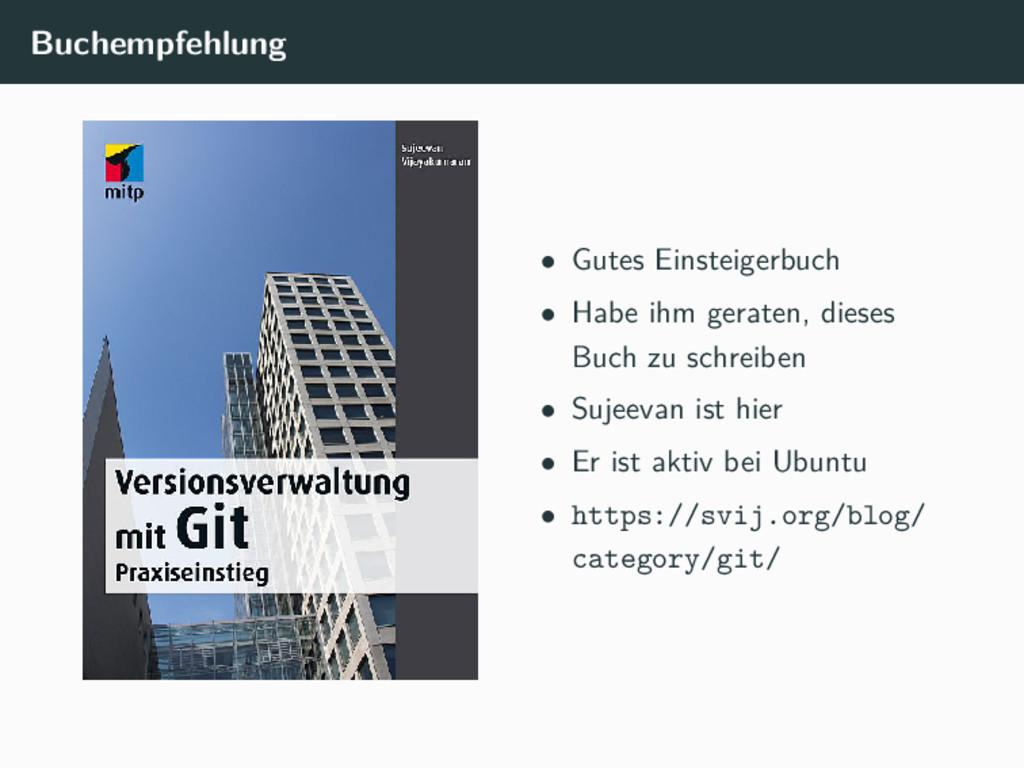 Buchempfehlung • Gutes Einsteigerbuch • Habe ih...