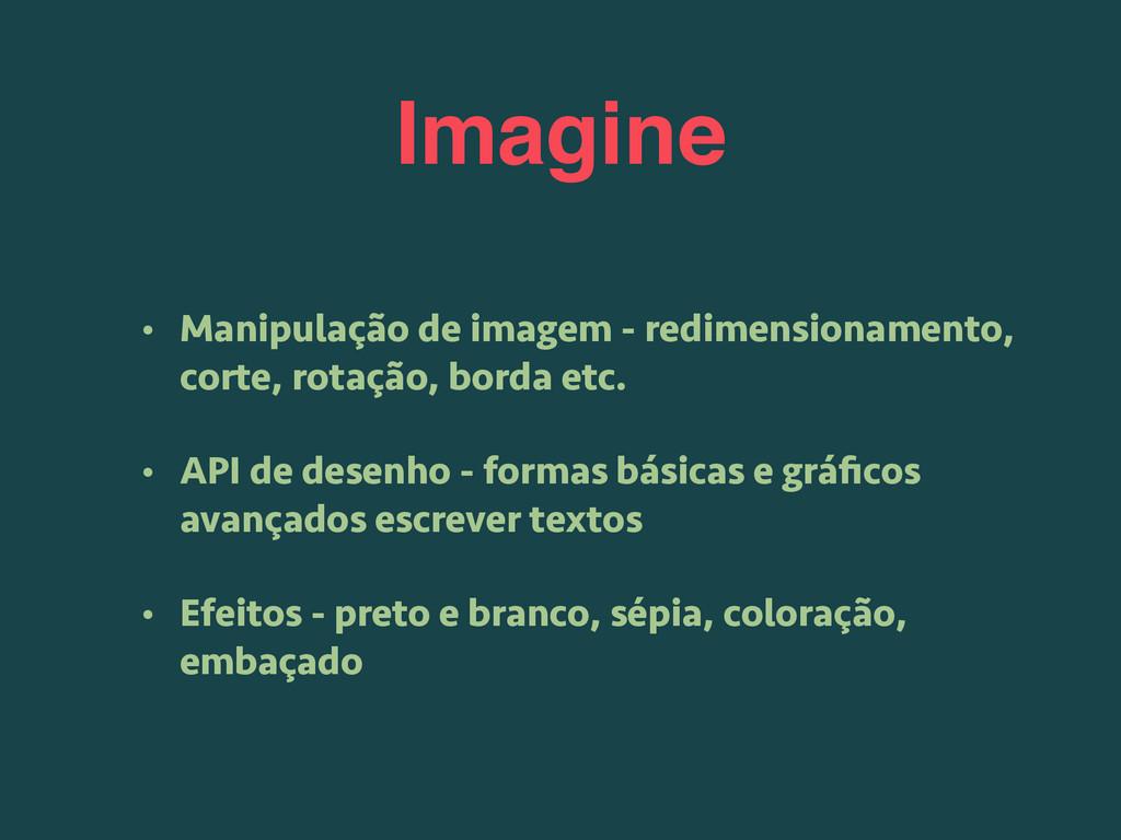 Imagine • Manipulação de imagem - redimensionam...