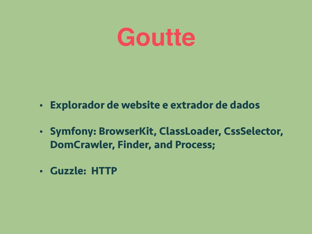 Goutte • Explorador de website e extrador de da...