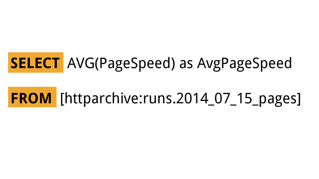 SELECT AVG(PageSpeed) as AvgPageSpeed FROM [htt...