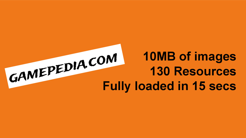 10MB of images 130 Resources Fully loaded in 15...