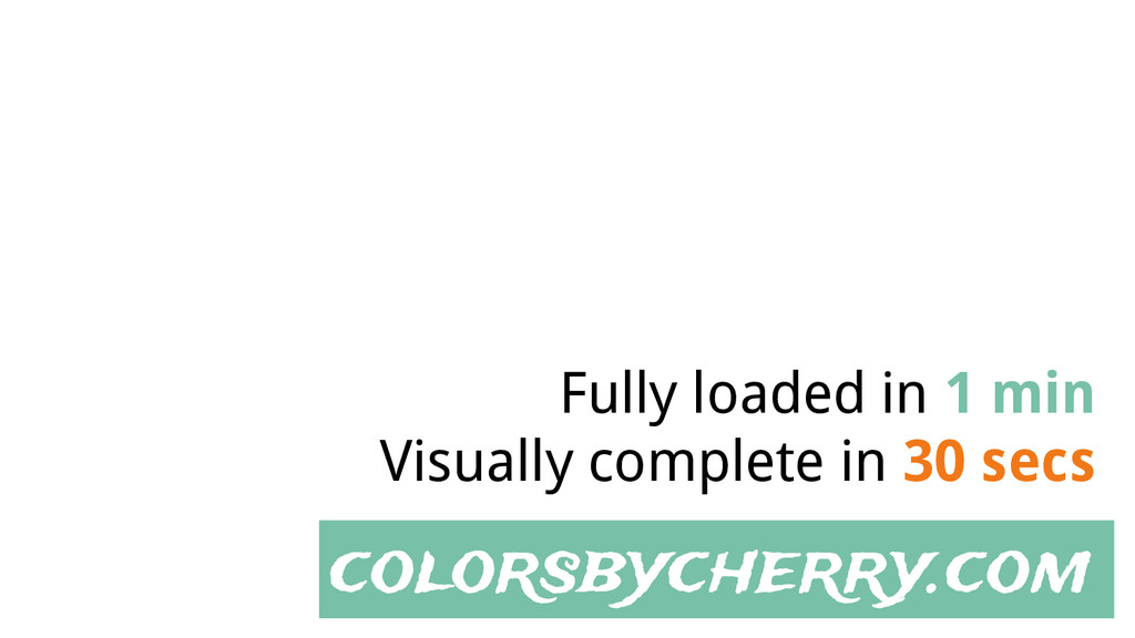 colorsbycherry.com Fully loaded in 1 min Visual...