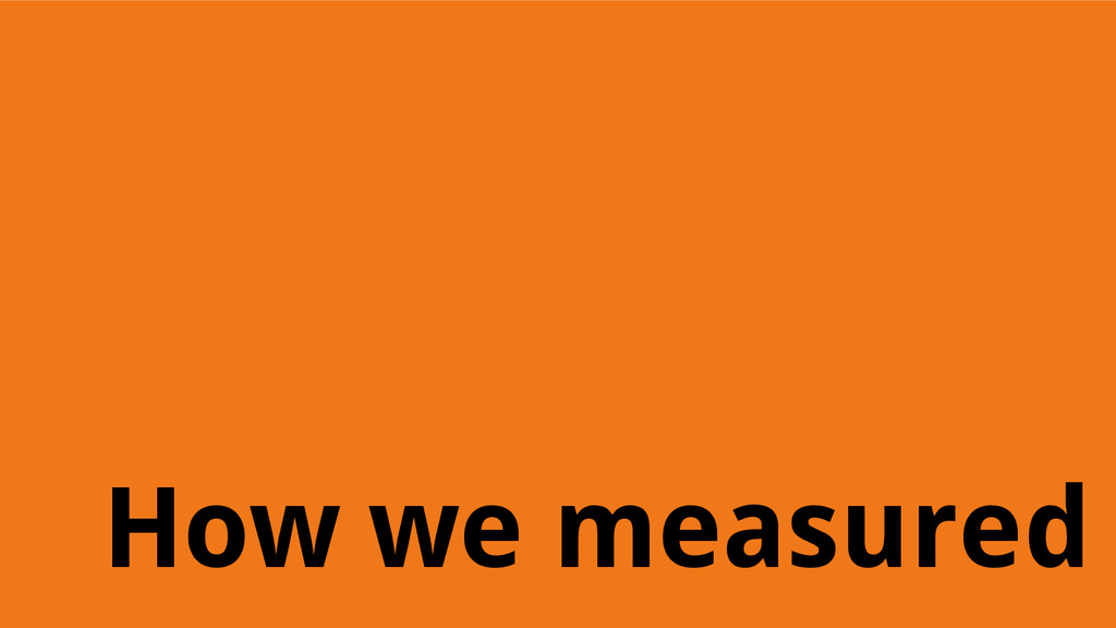 How we measured