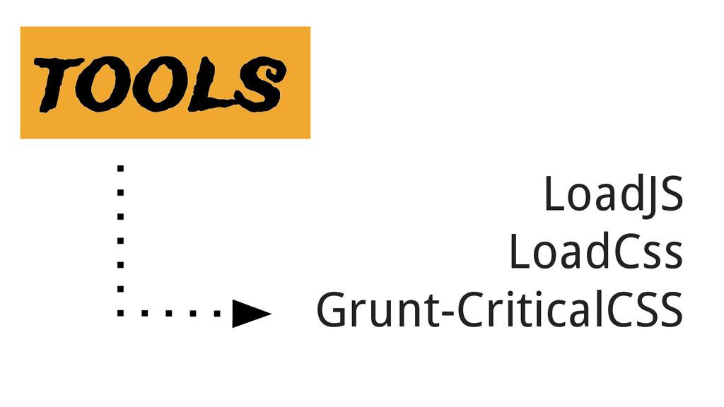 LoadJS LoadCss Grunt-CriticalCSS tools