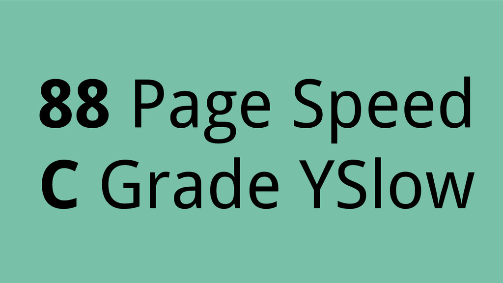 88 Page Speed C Grade YSlow