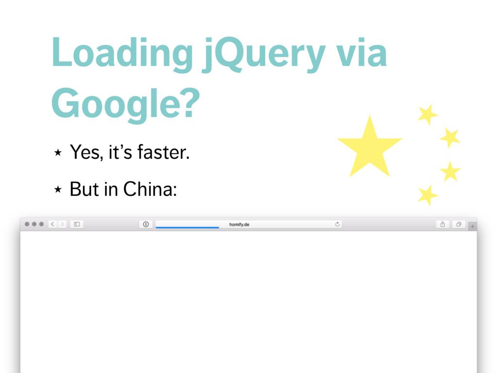 Loading jQuery via Google? ★ Yes, it's faster. ...