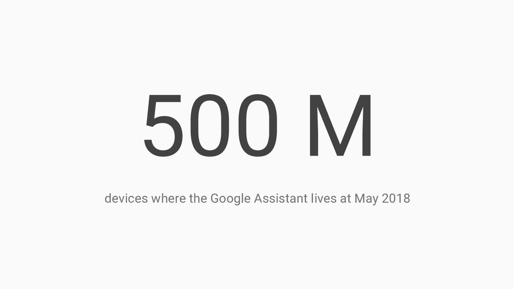 500 M devices where the Google Assistant lives ...