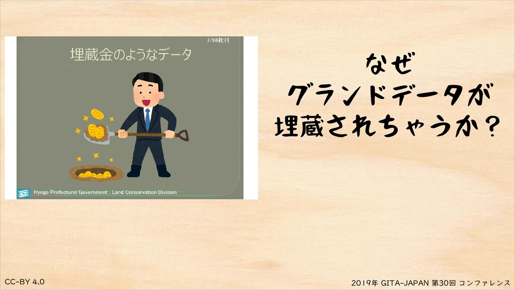 CC-BY 4.0 2019年 GITA-JAPAN 第30回 コンファレンス なぜ グランド...